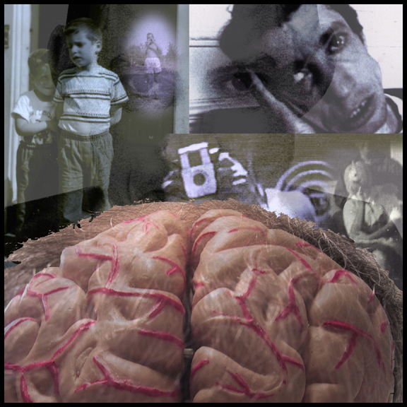 Brain Collage - with old photographs