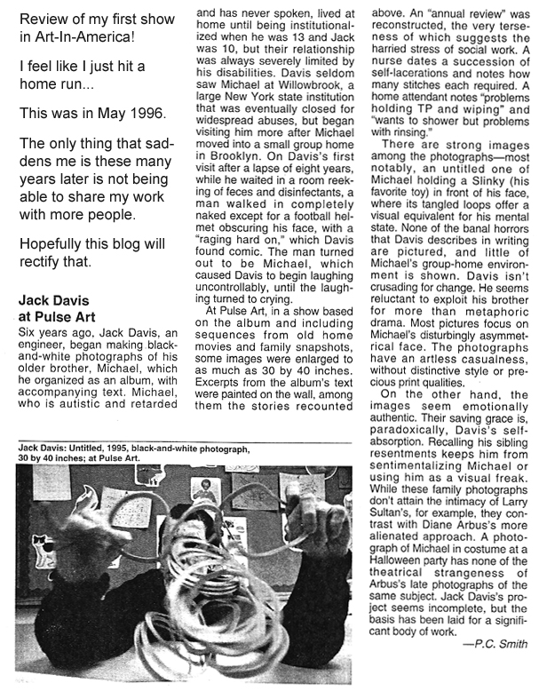 Review in Art in America of Brotherly Love Photography Show 1995