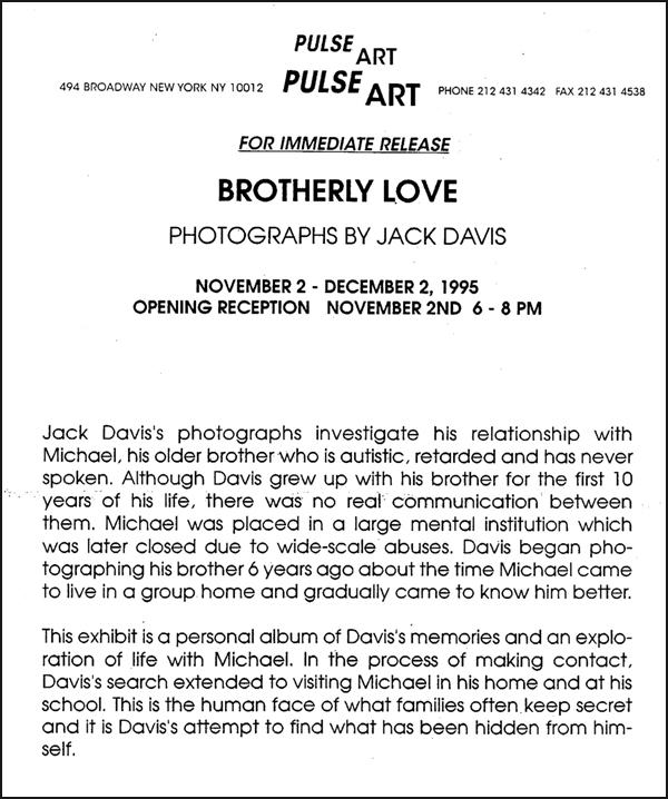 Announcement for Brotherly Love Photo Show