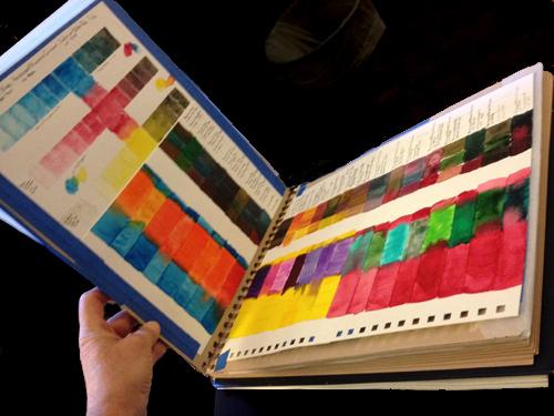 book of watercolor blending strips
