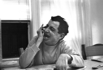 Photograph of Mike seeming to laugh