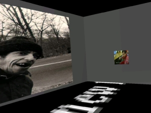 Within Mike's World, a desktop virtual reality environment