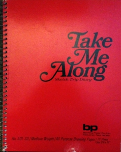 Spiral bound notebook that says Take Me Along