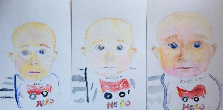 Three Watercolors of William