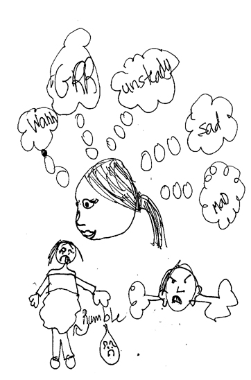 Sketch of being hungry by my granddaughter