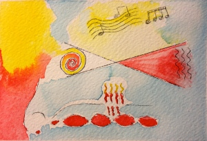 Abstract Watercolor Experiment December 18, 2013