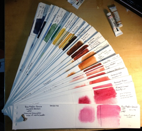Color strip book with unsaturated colors
