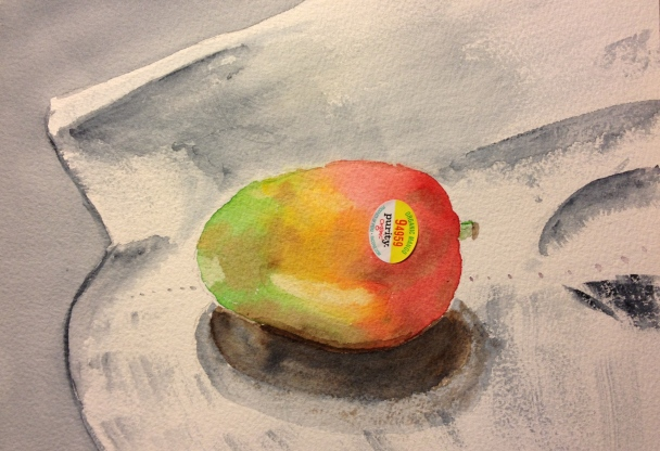 Still life Mango with label