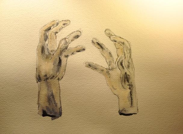 Plaster Cast Hand Studies by Rodin