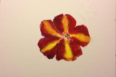 Watercolor Sketch - Flower