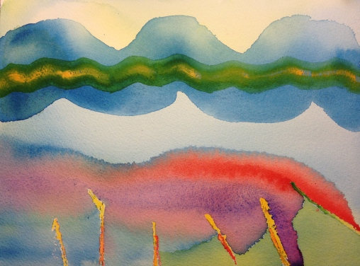 Watercolor Sketch - Abstract Expressionist Flow