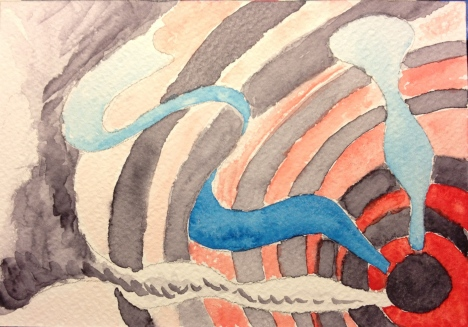 Watercolor Sketch - Abstract Expressionist Doodle