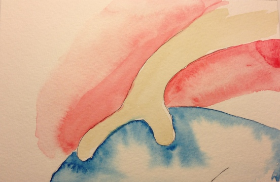 Watercolor Sketch - Abstract Unexpected Emotion