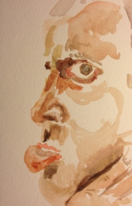 Watercolor Sketch - Portrait of Brother Mike