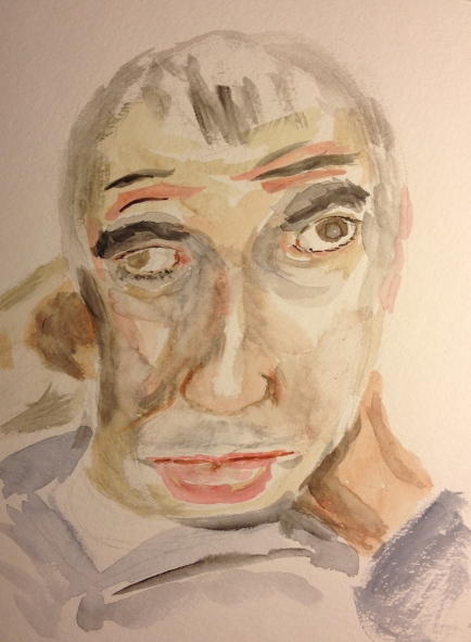 Watercolor Sketch - Portrait of Brother Mike 2