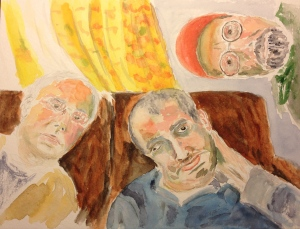 Watercolor Painting - Three Brothers