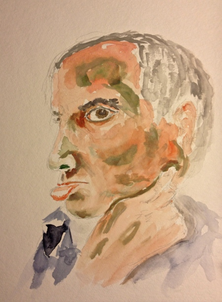 Watercolor Painting - Portrait of Mike