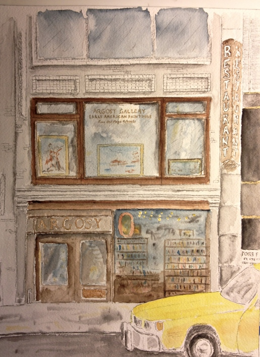 Watercolor Pen and Ink - Argosy Book Store