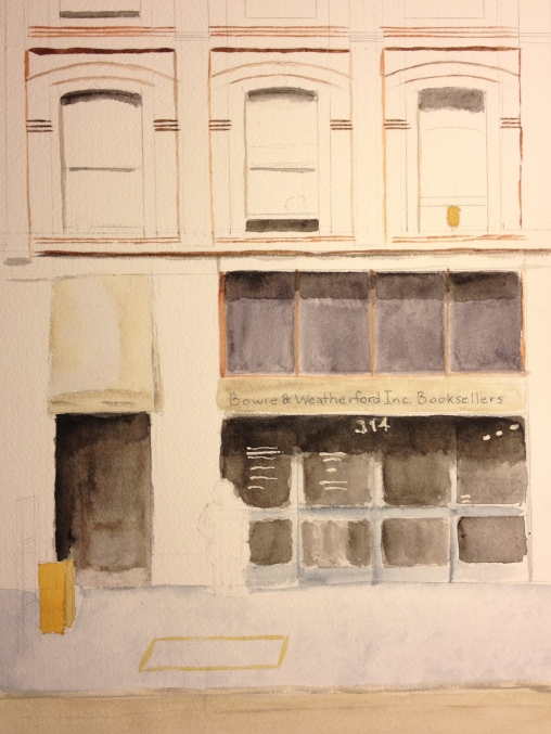 Watercolor Study - Bowie & Weatherford Booksellers - Sketch + Shadows