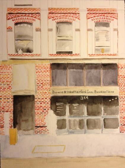 Watercolor Study - Bowie & Weatherford Inc. Booksellers - Bricks