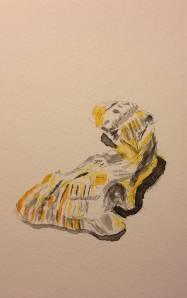 Watercolor Preliminary Sketch - My Oyster - Yellows and Blacks