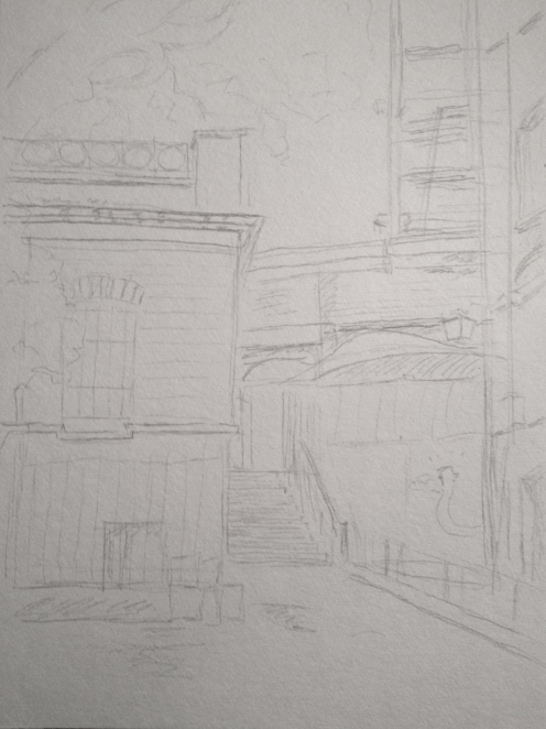 Tilted House in London - Sketch