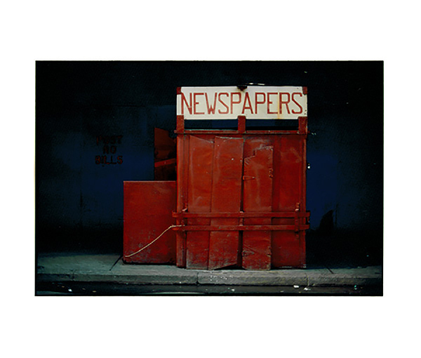 Photograph - Color Newspaper Stand