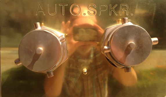 Digital Photo - Standpipe and Selfie in Reflection