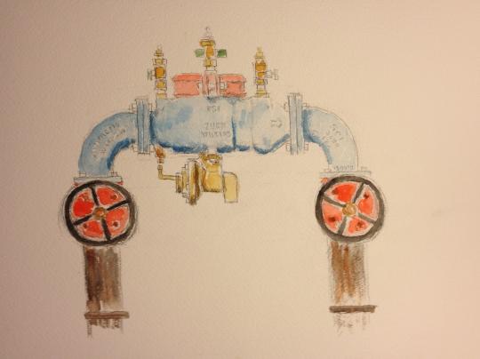 Watercolor Sketch - Fancy Standpipe