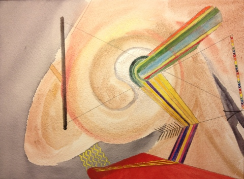 Watercolor Sketch - Abstract: The Senses