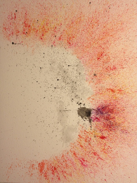Watercolor Study - Abstract - Splatter Painting