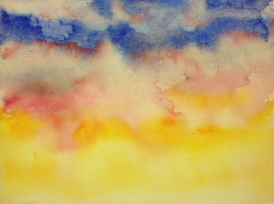 Watercolor: 1st Stage Multicolored Sky