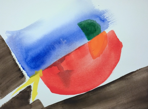 Watercolor: Abstract - painting a feeling: Back Pain