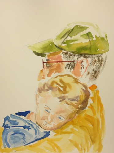 Watercolor: Will and Grandfather