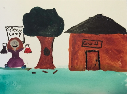 Watercolor: Sidra's vision of science camp