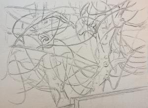 Sketch: Last Leaf