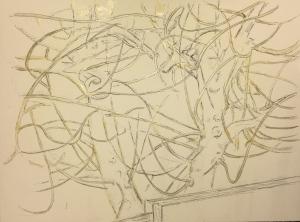 Sketch: Last Leaf - Sketch with Latex Resist