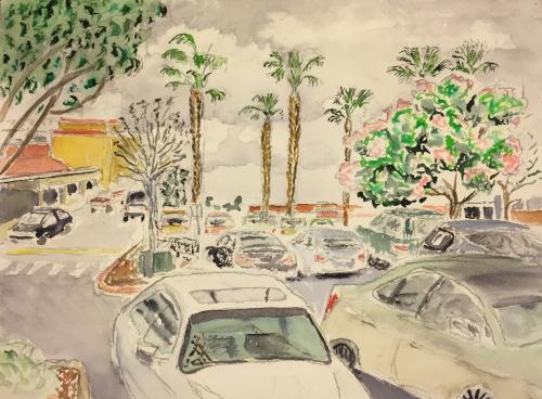 Watercolor: Parking Lot #2