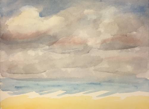 Watercolor: Study of Clouds