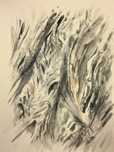 Watercolor: Texture - portrait of bark
