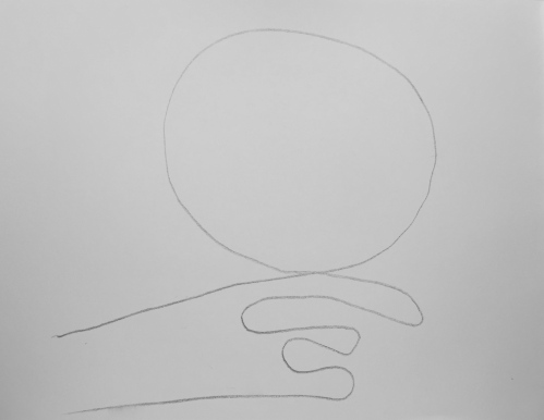 Sketch: Single Line Drawing for 'Thought'