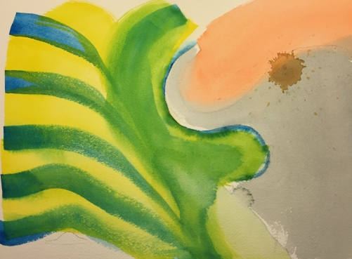 Watercolor: Elephant in Fear