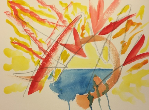 Watercolor: Abstract Expressionist Rendition of the Jitters