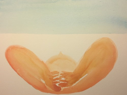 Watercolor: Head and Arms Resting