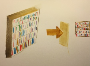 Watercolor: Bookshelves - Large to Small