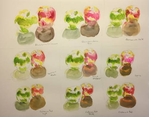 Watercolor: Apple Color Testing Chart 2
