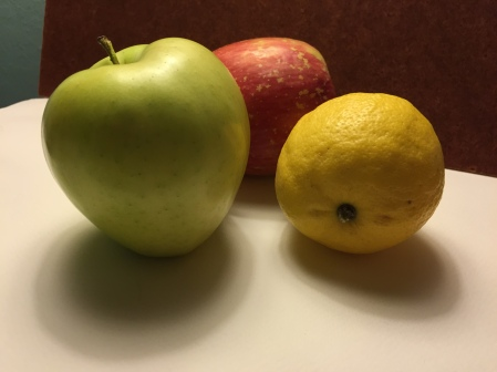 Photograph: Two Apples and a Lemon