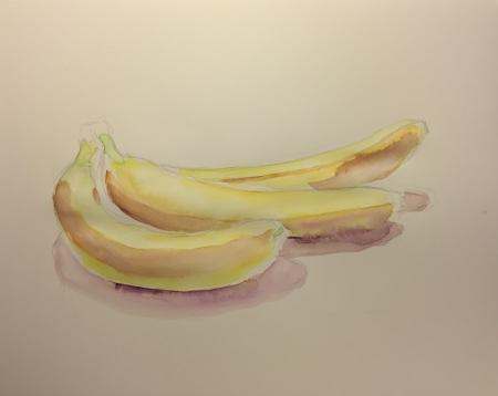 Watercolor: Bananas - Light Colors