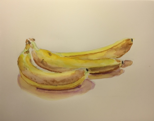 Watercolor: Bananas