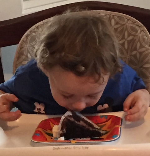 Photograph: Eating Cake - The Heck with a Fork